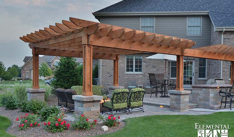 Extended Pergola by Elemental Landscapes